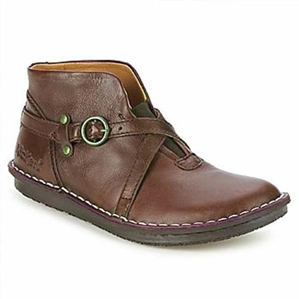 Solid Vintage Round Toe Boots