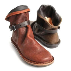 Plus Size Round Toe Solid Boots