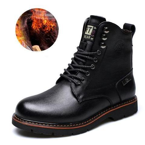 Men's Combat Boots Leather Winter Boots Booties / Ankle Boots Black / Brown / Martin Boots