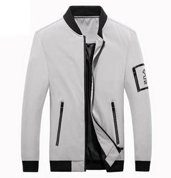 Mens Fashion baseball collar Streetwear Hip Hop Coats Outwear Thin Slim Bomber Jackets