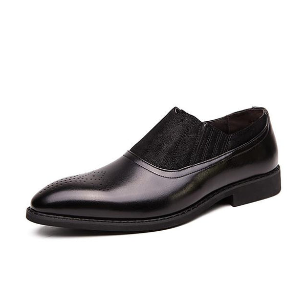 Men's Summer / Fall Classic / British Daily Office & Career Loafers & Slip-Ons Faux Leather Non-slipping Wear Proof Black / Brown