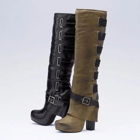 Women Vintage Boots Casual Plus Size Shoes