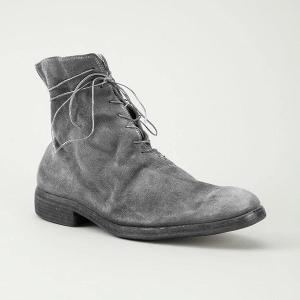Suede Lace Up Military Boots