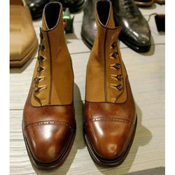 Men's Fall / Winter Roman Shoes Daily Boots PU Brown