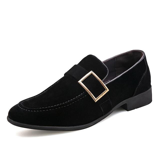 Men's Formal Shoes Suede Spring & Summer / Fall & Winter Business / British Loafers & Slip-Ons Breathable Black / Brown / Office & Career / Suede Shoes