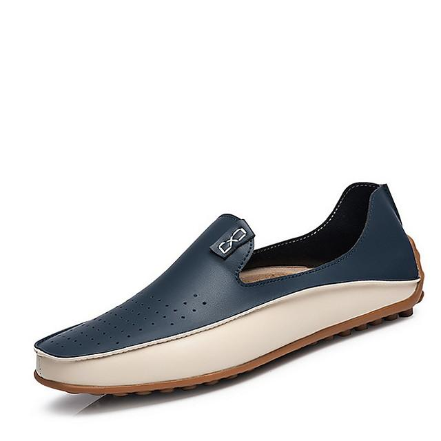 Men's Summer Flat / Comfort / Designer Outdoor Loafers & Slip-Ons / Boat Shoes PU Non-slipping Yellow / Blue