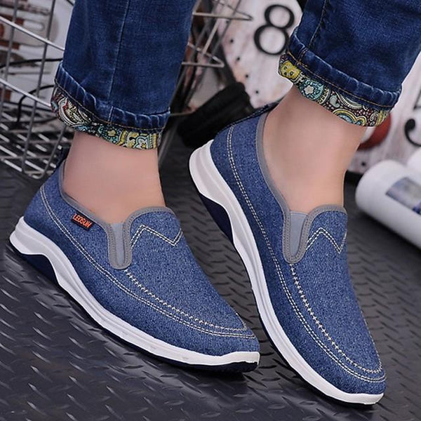 Men's Summer Daily Loafers & Slip-Ons Mesh Dark Blue / Light Blue