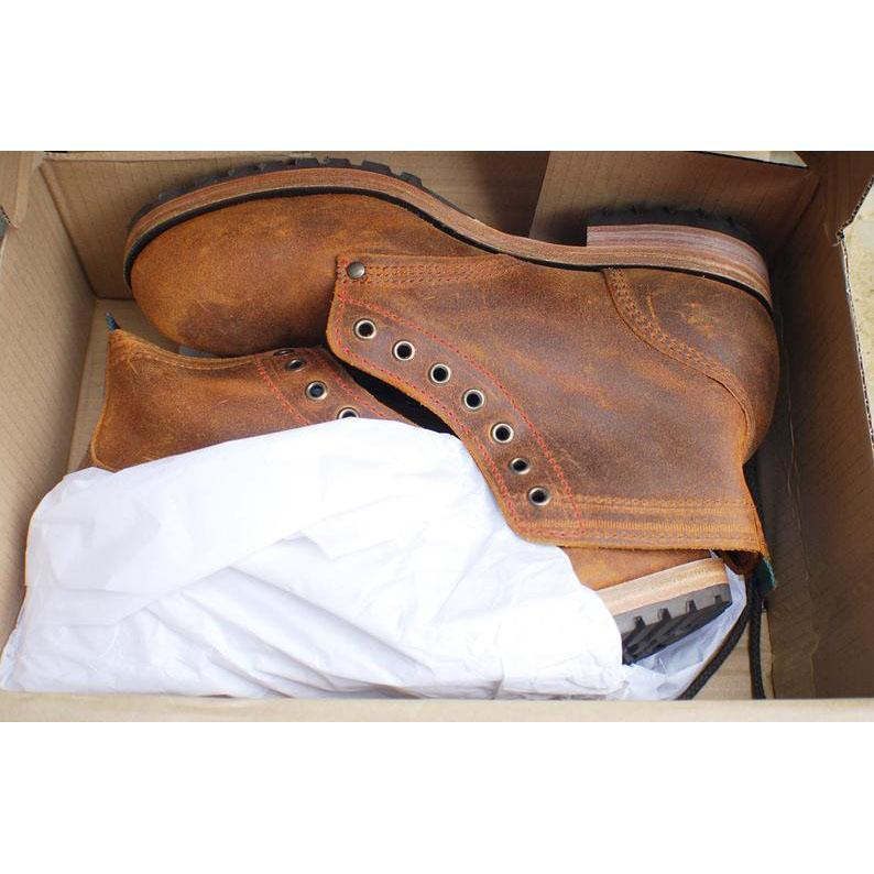 Men's Suede Leather Round Toe Martin Boots