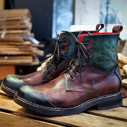 Men's Vintage Splicing Handmade Martin Boots