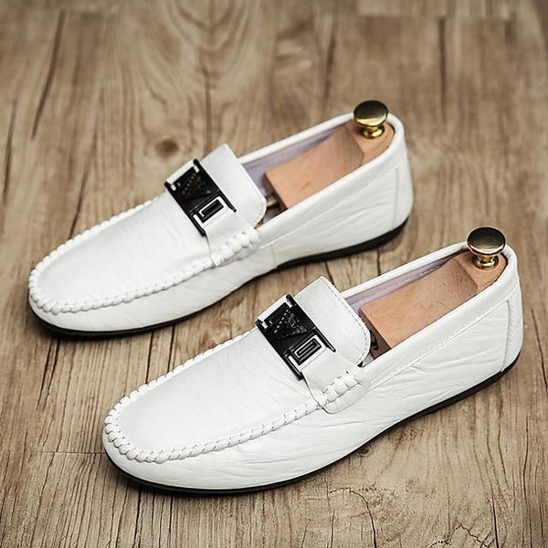 Men's Summer Daily Loafers & Slip-Ons PU White / Black / Gray