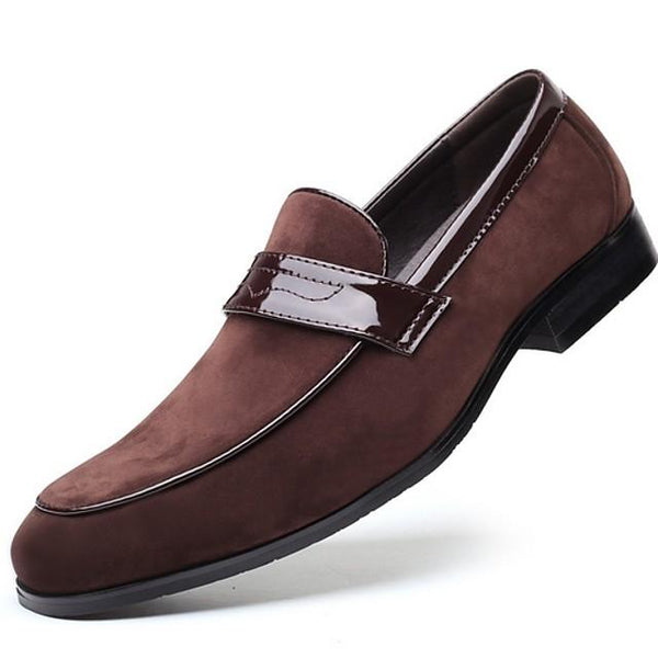 Men's Summer Daily Loafers & Slip-Ons PU Black / Blue / Brown