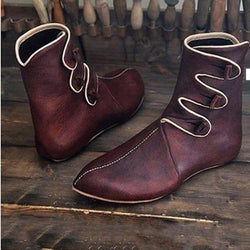 Men's Spring / Fall Vintage Daily Boots PU Booties / Ankle Boots Wine / Black