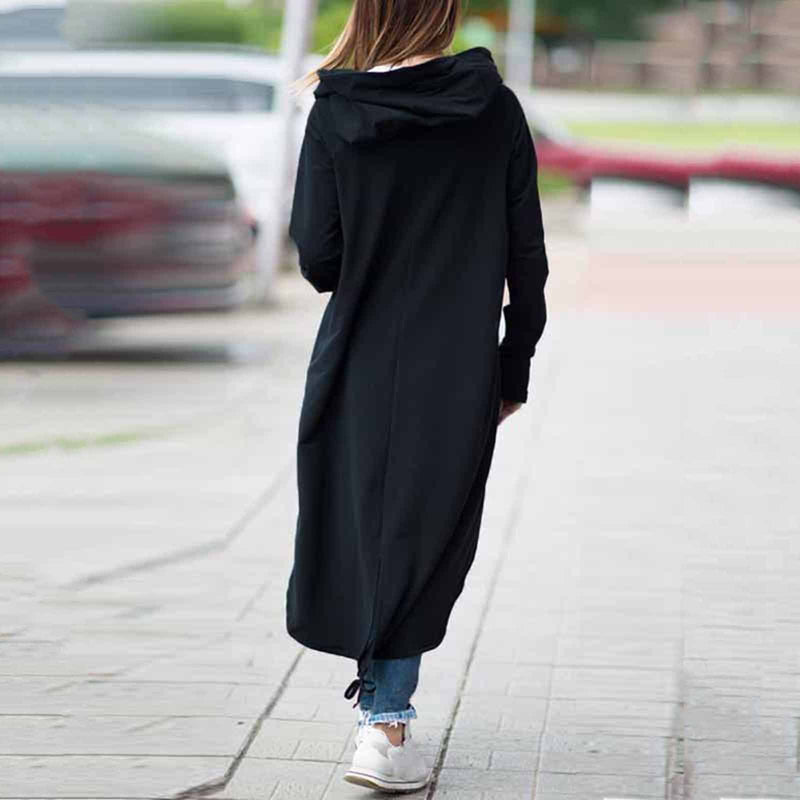 Asymmetrisch Long Coats Sweatshirt Coats