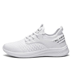 Men's Summer / Fall Sporty Daily Outdoor Trainers / Athletic Shoes Running Shoes / Basketball Shoes Tissage Volant Breathable Non-slipping Wear Proof White / Black / Red Slogan
