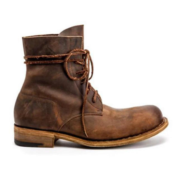Unisex Fall / Winter Casual Daily Boots PU Brown / Coffee / Square Toe