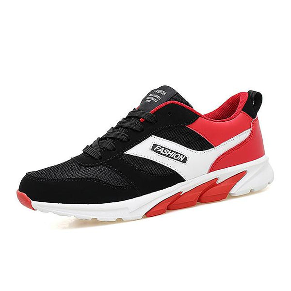 Men's Fall Sporty Outdoor Trainers / Athletic Shoes Running Shoes Synthetics Non-slipping Black and White / Pink / White / Black / Red