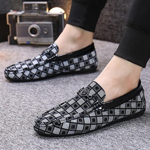 Men's Business / Casual Daily Office & Career Loafers & Slip-Ons Walking Shoes PU Breathable Non-slipping Wear Proof White / Black / Khaki / Rivet