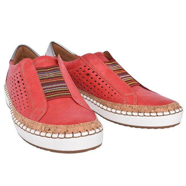 Women PU Leather Sneaker Flats Shoes Breathable Loafers Flats Shoes