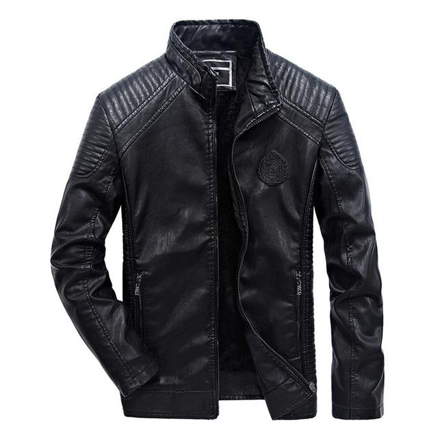 Men Leather Jackets Winter Jacket Classic Motorcycle Style Inside Thick Coats Leather Jacket
