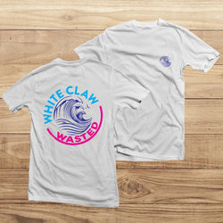 Women Fashion The ORIGINAL White Claw Wasted T-Shirt White Claw T-Shirt
