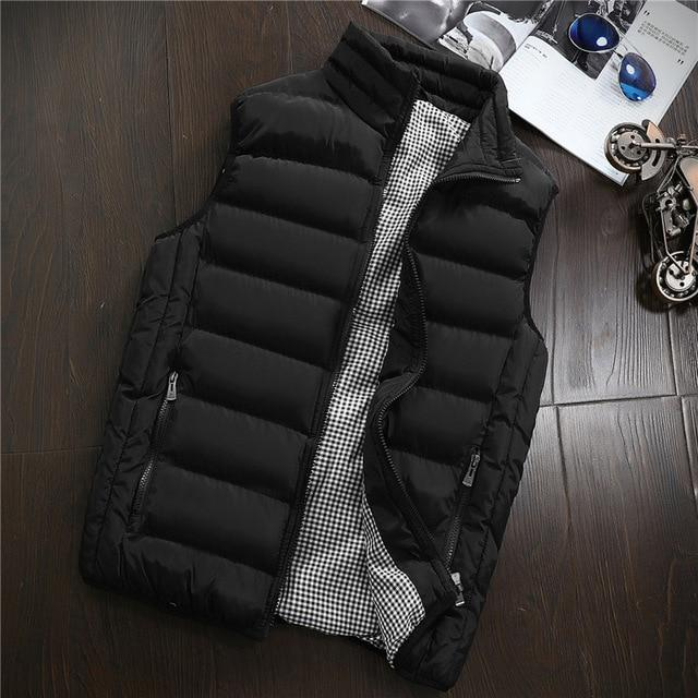 Men New Vest Mens Plus Size 5XL Warm Sleeveless Jacket Men Winter Waistcoat Men's Vest Casual Coats