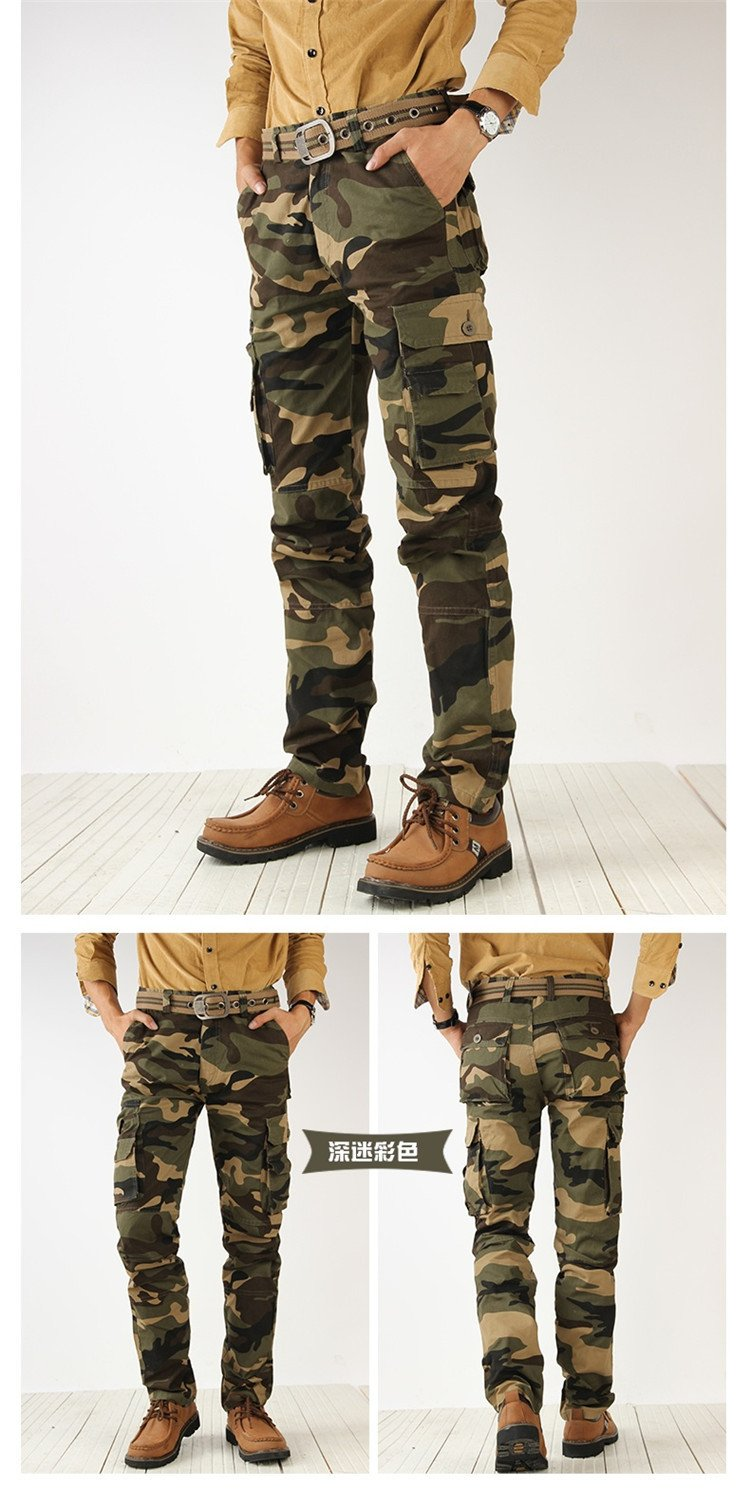 Mens trousers army fashion hanging crotch jogger pants patchwork pants crotch big Camouflage pants