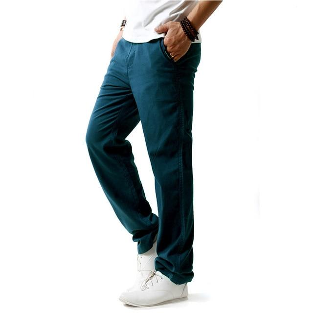 Men casual linen pants sweatpants straight trousers loose plus size joggers men's cotton pants