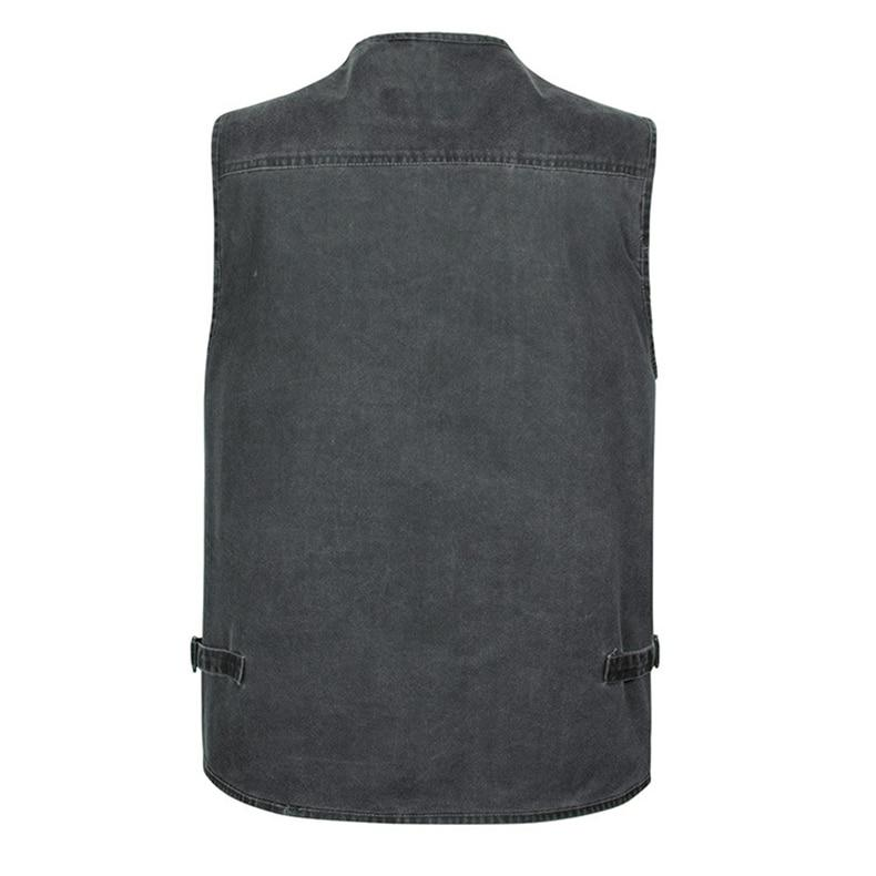 Casual Summer Big Size Cotton Sleeveless Vest With Many 16 Pockets Men Multi Pocket Photograph Waistcoat