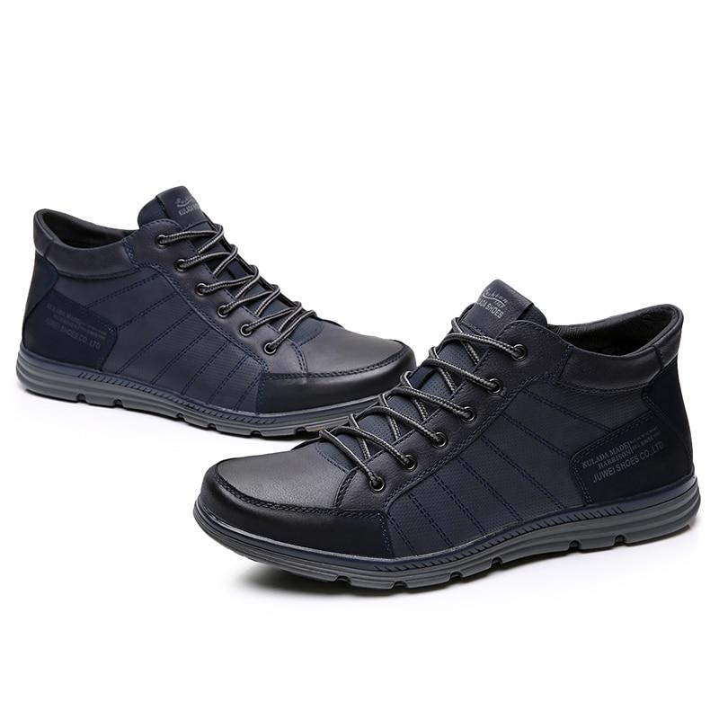 Men's Shoes Leather Men Boots Comfortable Nature Working Men Lace-up Casual Ankle Boots
