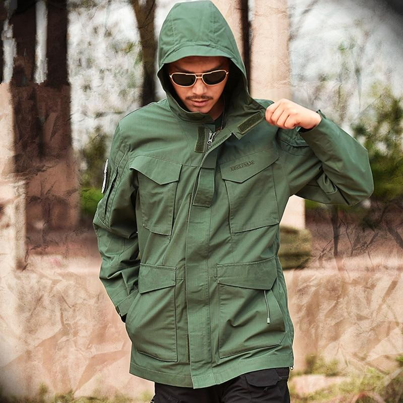 Brand Military Camouflage Male clothing US Army Tactical Men's Windbreaker Hoodie Field Jacket Outwear