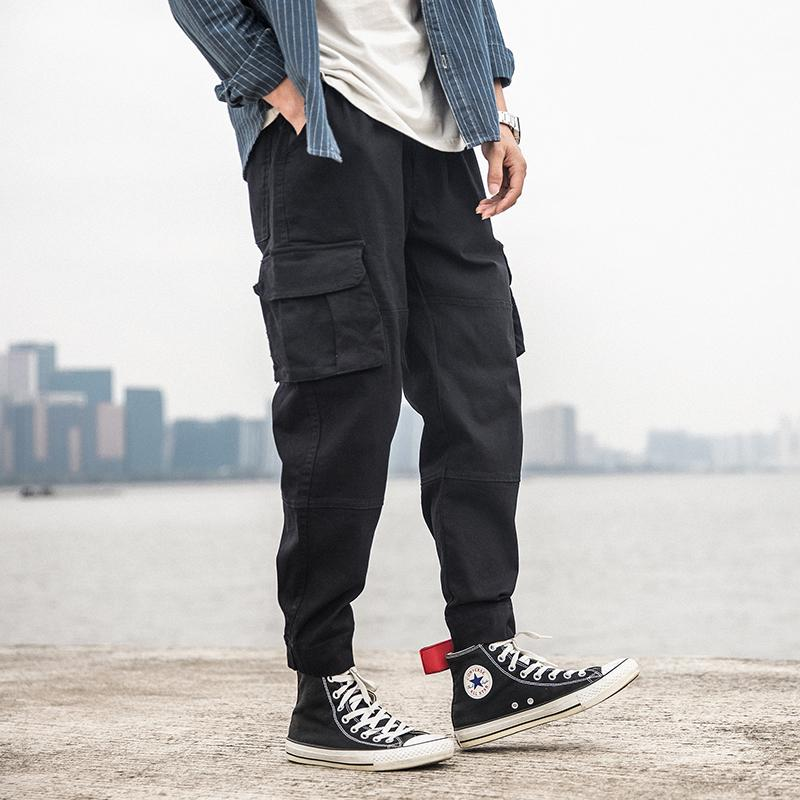 Multi-pocket Overall Men Jogger Army Green High Street  Cargo Casual Pants Loose Streetwear Fashion Trousers Mens