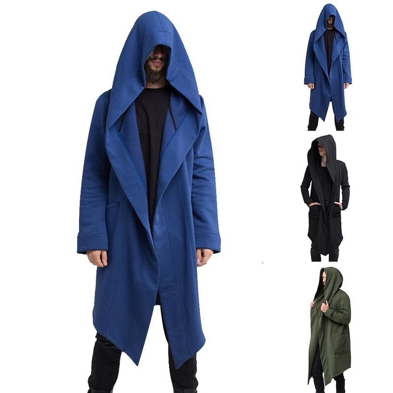 Men Sweatshirts Black Hip Hop Mantle Hoodies Fashion Jacket long Sleeves Cloak Man's Coats Outwear