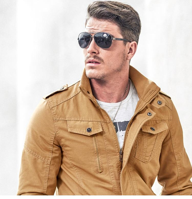 Mens Winter Cotton Coat Plus Size Stand Collar Casual Bomber Jacket Air Force Flight Jacket