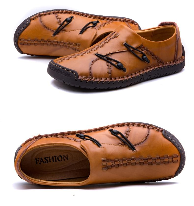 Genuine Leather Loafers Men Moccasin Slip On Flat Causal Men Shoes Footwear Boat Shoes