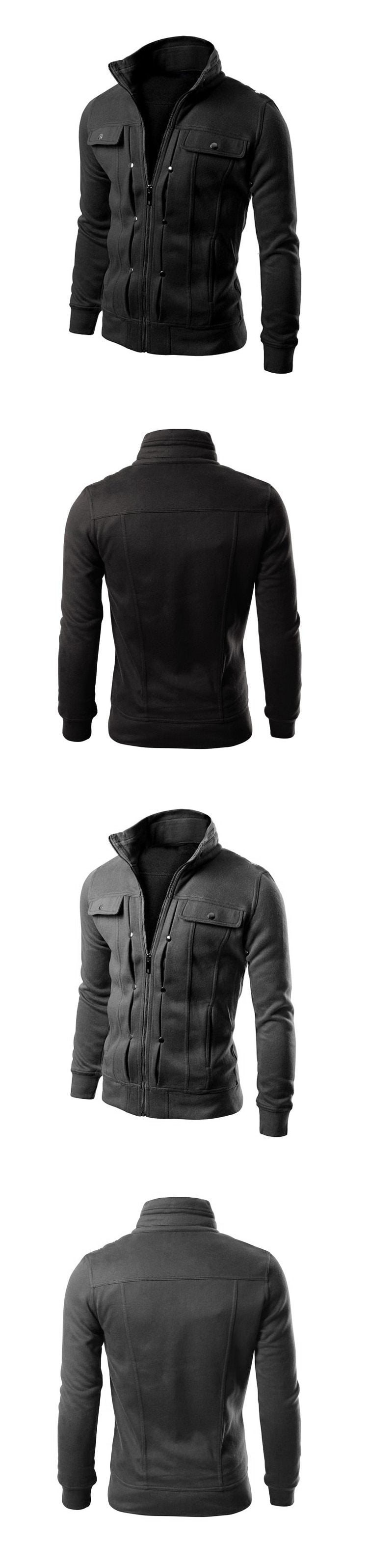 Men's Cardigan Multi Button Hoodies Fashion Sweatshirt Casual Male Tracksuits Men Brand Clothing N432