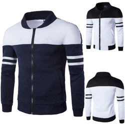 Men's Hoodies Zipper Sportswear Long Sleeve Coat Clothes streetwear Patchwork Jacket