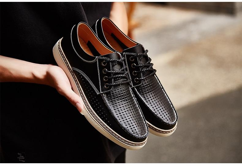 Leather Boat Shoes Casual Flats Moccasins Homme Driving Loafers Shoes Slip On Shoes