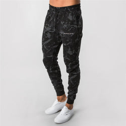 Men Casual Skinny Pants Gyms Fitness Brand Track pants Autumn New Male Cotton Sportswear Trousers