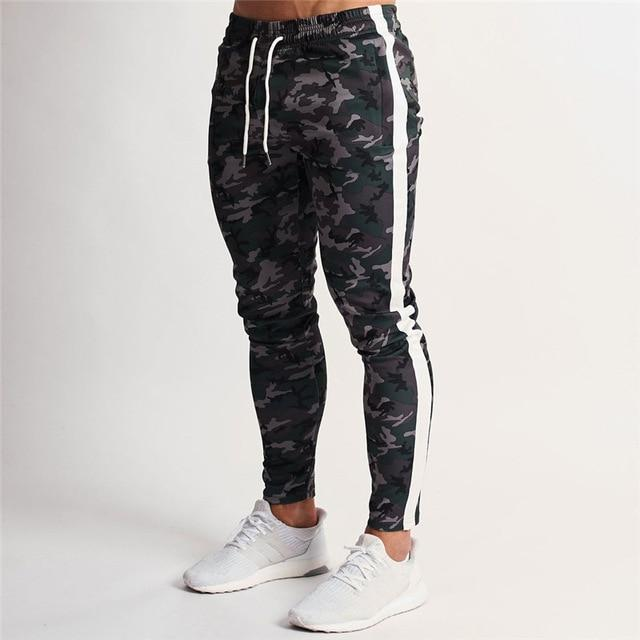 Mens Joggers Casual Pants Fitness Sportswear Tracksuit Bottoms Skinny Sweatpants Trousers Track Pants