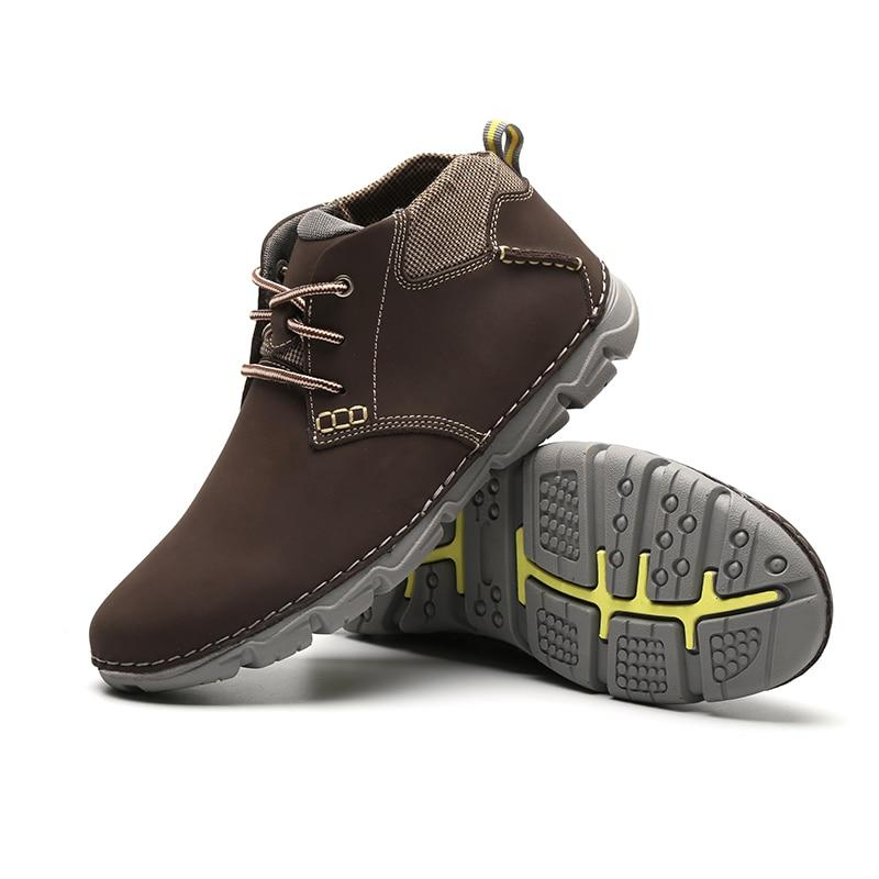 Men Ankle Boots Fashion Men Shoe Vintage Style Leather Male Outdoor Casual Boots Work Footwear