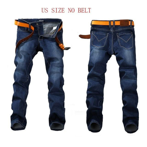 Stretch JEANS Plus Big Size Straight Denim Pants