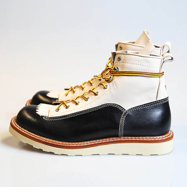High Top Shoes Men England Style Vintage Casual Work  Boots Lace Up Office Dress Shoes