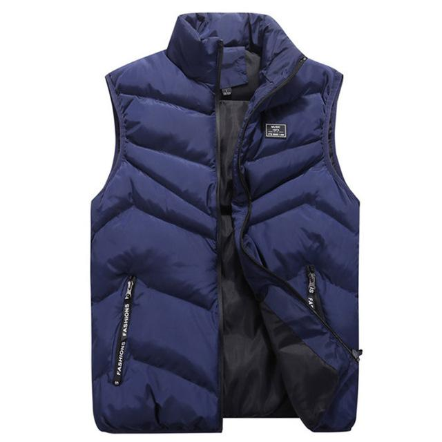 Mens Jacket Sleeveless Vest Casual Coats Cotton Thick Clothing Warm Men's Vest Thicken Waistcoats 8XL