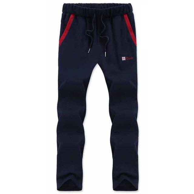 Men Fashion Casual Tracksuit Bottoms Pants Sweatpants Striped Classic Breathable Trousers