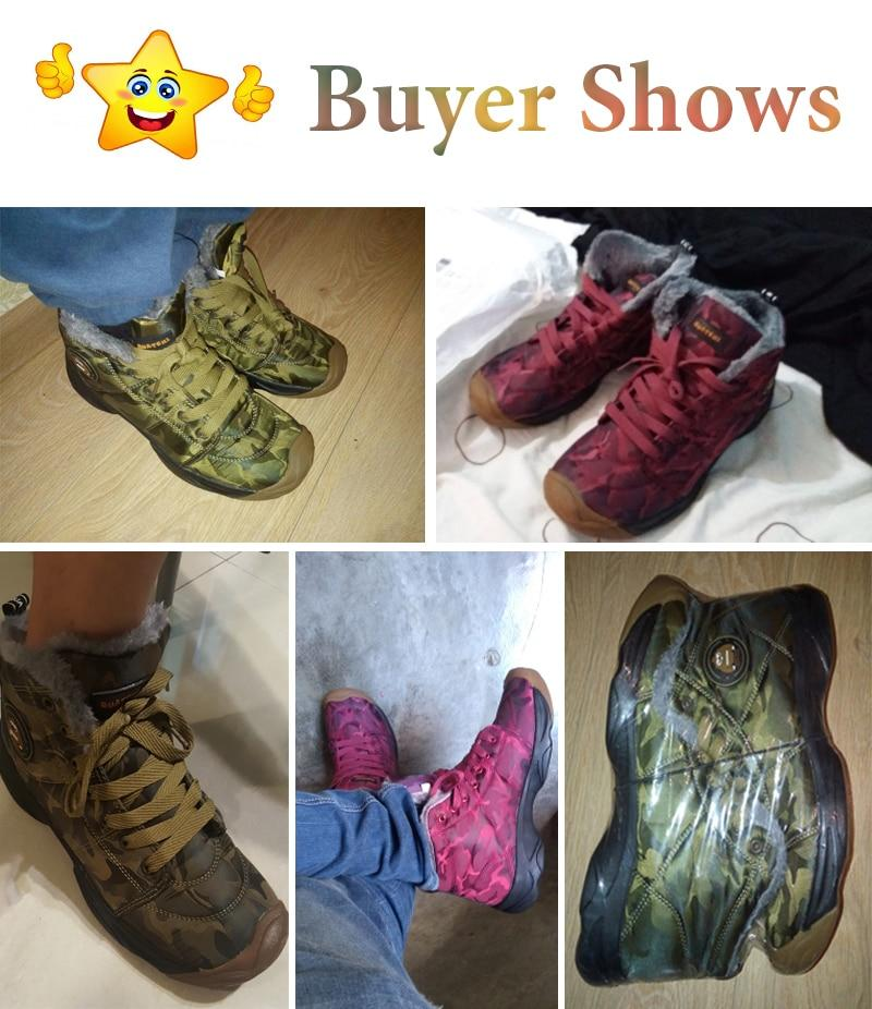 Men Winter Boots Warm Plush Safety Shoes Camouflage Military Boots Waterproof Snow Boots Flat Ankle