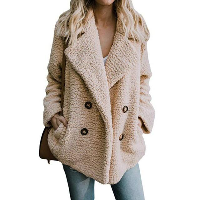Women jacket Fur Coat Winter Fleece Jacket Women Coat Female Jacket Plus Size Hooded Teddy Coat