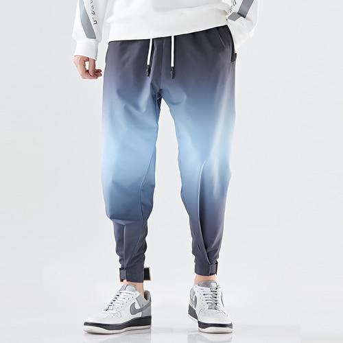 Men Casual Joggers Pant Trousers High Street Elastic Waist Harem Pant Men Panelled Hip Hop Streetwear Pants 4XL