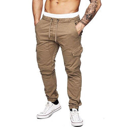 Men's Joggers Tactical Casual Pants Hip Pop Cargo Overalls Multi-pocket Sports Black Trousers Harem Streetwear Sweatpants