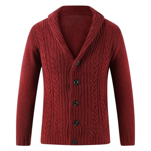 Men Casual Warm Men's High Quality Fashion Cardigan V-neck knitting Sweaters Coat