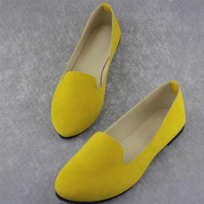 Corachic.com - Plus Size Women Candy Color Loafers Flats Sweet Casual Shoes